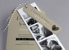 Faire-part de mariage Hector - Collection Hipster… Wedding Favours, Wedding Programs, Wedding Stationery, Wedding Cards, Wedding Planner, Rustic Wedding, Our Wedding, Dream Wedding, Wedding Invatations