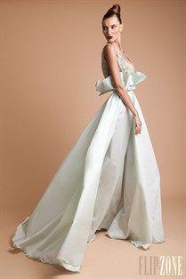 Rani Zakhem mint green wedding gown