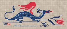 dragon free cross stitch