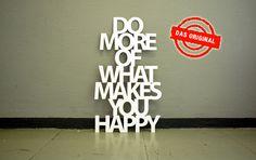 Do more of what makes you happy van Westpaket op DaWanda.com