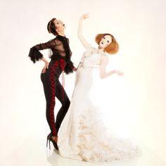 #atelierflamenco #mercedesmestre #flamenco #flamenca #barcelona #novia Dress: Mercedes Mestre. Make Up: Ivan Sirio. Model: Carla & Ariadna. Fotografía: Pep Valls. En Camaleo estudi.
