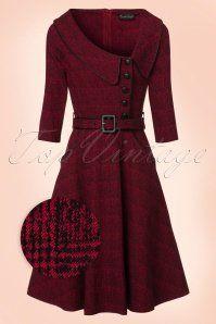 Vixen Lilly Red Swing Dress 102 20 19491 20161004 0004wv