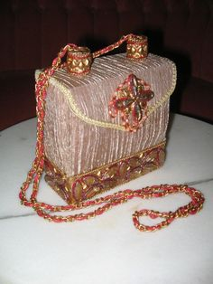 MARY FRANCES JEWELLED Evening Purse Gold by pandorasboxantiques 7b01d11ae691
