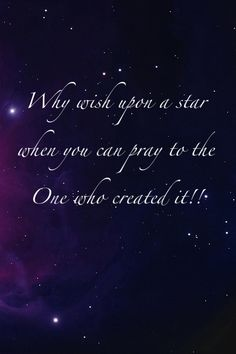 The stars are just the surface... You have to look deeper and that's where you find your faith and assurance.