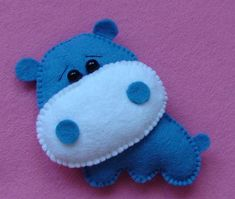 Felt Hippo (no pattern or instructions, picture only.)