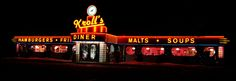 The best diners in every state- NORTH DAKOTA: Kroll's Diner       With locations in Fargo, Bismarck, Mandan, and Minot (and a food truck that roams the state in warmer weather), Kroll's Diner is bringing back the retro diner feel. Famous for its Knoephla Soup and hand-scooped malts, its menu includes American and German specialties.