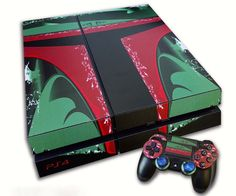 Give your Next Gen console a new look with this Playstation 4 Star Wars Boba Fett skin  Includes 2 contoller skins!  These skins are unlike the