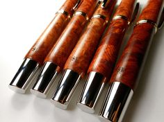 The wooden pieces in the Scott Bannon Collection, by Highland Pens