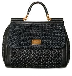Dolce and Gabbana Woven Raffia Miss Sicily Top Handle - Lyst