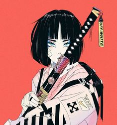 Cyberpunk Wonderland, a look at Vinne As a child, I grew up watching the anime series Dragon Ball Z. One summer, in particular, I would spend all day swimming then spend the night watching and playing Anime Art Girl, Manga Art, Pretty Art, Cute Art, Aesthetic Art, Aesthetic Anime, Art Et Design, Arte Cyberpunk, Samurai Art