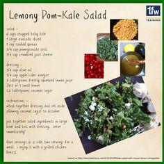 Lemony Pom-Kale Salad