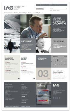 #Corporate #gridstyle #webdesign 83oranges.com