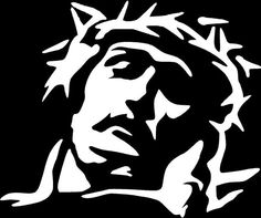 Jesus and Crown of Thorns Religious Die Cut Vinyl Decal