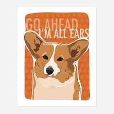 Corgi Art Print #dog