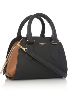 Nina RicciElvida mini two-tone leather shoulder bagback