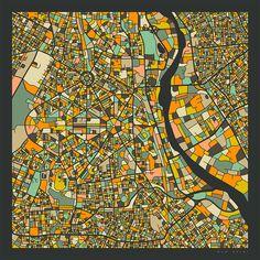 Poster 50 x 50 cm: New Delhi Karte von Jazzberry Blue - hochwertiger Kunstdruck… Delhi Map, Delhi City, New Delhi, Delhi India, Map Design, Graphic Design, Kunst Poster, Fine Art Prints, Canvas Prints