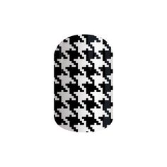 Jamberry Nail Wraps ($15) ❤ liked on Polyvore featuring beauty products, nail care, nail treatments and black & white houndstooth