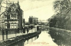 1905 - The New River from Park Lane Bridge, Park Lane (renamed Clissold Crescent in 1937), Stoke Newington. History of Stokey (@HistoryOfStokey)