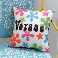 Throw Back Throw Pillow from @Theresa Cifali for @ILoveto Create - Ready to head back to the swinging 60s? Go retro with this decorative craft idea.
