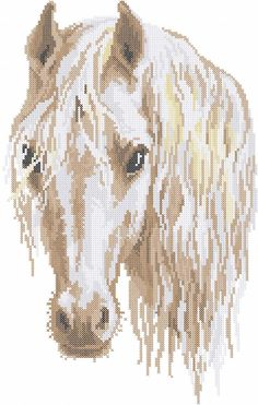 Horse cross stitch free embroidery design 10 - Cross stitch machine embrodiery…