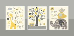 DesignByMaya Kids room decor for baby boy set of 3 prints >>> You can get more details by clicking on the image. (This is an affiliate link and I receive a commission for the sales)