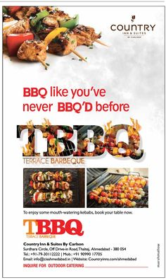 Book the table now for enjoy your weekend with the mouthwatering #Barbeque on the Terrace in this cold #winter