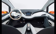 Photographs of the 2015 Chevrolet Bolt EV Concept. An image gallery of the 2015 Chevrolet Bolt EV Concept. Bmw I3, Electric Bolt, Electric Cars, Car Interior Design, Automotive Design, Car Ui, New Chevy, Upcoming Cars, Technology Design