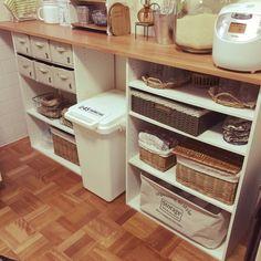 Yuriさんの、キッチン,カラーボックス,100均,団地,見せる収納,のお部屋写真