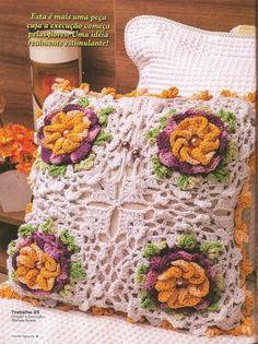 Almofadas Quadradas em Crochê