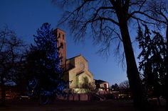Our Lady of Victory Chapel at St. Catherine University on a winter evening. (Photo by Rebecca Zenefski '10)