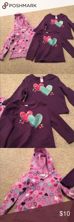 Baby girl 2T three sweet shirts/jacket Baby girl 2T three sweet shirts/jacket YES there are Two of the same shirt this is great for twins both in 2 T in nice condition bundle # 195 Shirts & Tops Sweatshirts & Hoodies
