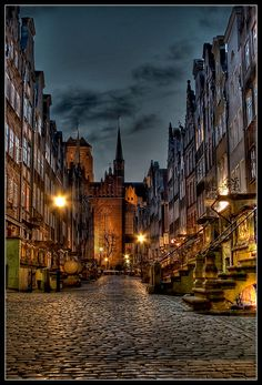 Gdansk, one of the most beautiful streets i've ever seen! Danzig, Beautiful World, Beautiful Places, Beautiful Streets, Places To See, Places To Travel, Gdansk Poland, Poland Travel, Wonders Of The World