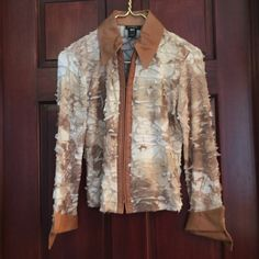 Blouse Isabel leather trimmed zip blouse Isabel Tops Blouses
