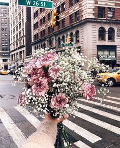 Beautiful floral bouquet in NYC. Fall Flowers, Fresh Flowers, Pink Flowers, Beautiful Flowers, Wedding Flowers, Bouquet Wedding, Simply Beautiful, Wedding Dresses, Bridal Gowns