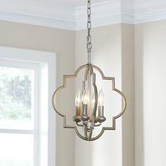 Its stylized, geometric frame sets the Hartley Pendant apart from other light fixtures. Featuring four candle-style lights, this pendant maintains an open, airy feel with just a touch of global inspiration.