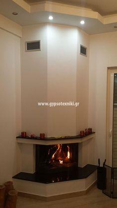 Τζάκι τρίπλευρο σε οικία στην Άνω Γλυφάδα. Flat Screen, Home Decor, Ideas, Fireplace Set, Blood Plasma, Decoration Home, Room Decor, Flatscreen, Home Interior Design