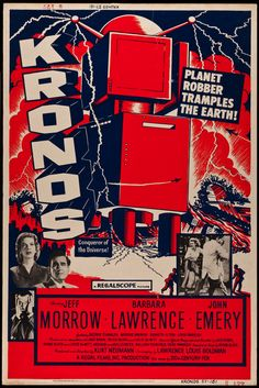 Movie poster, for the 1957 motion picture, KRONOS.