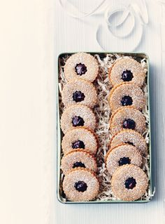 Linzer Cookies—These jam-filled sandwich cookies are based on one of Austria's most famous desserts, the Linzertorte. For soft, chewy cookies, assemble a day in advance. For crispier cookies, sandwich the same day as serving.