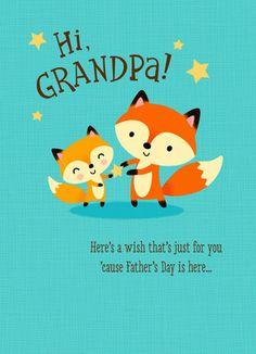 Cute Grandpa Fox Father's Day Card
