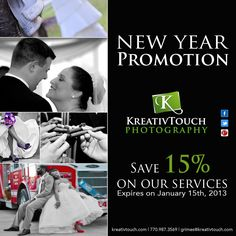 KreativTouch Photography 2013 New Year Promo [This is a campaign I created for a client] January 15, Photography Services, Email Marketing, Promotion, Campaign, Check