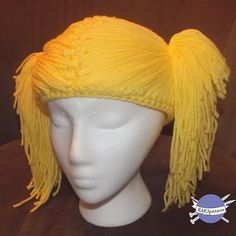 It's a hat that looks like yarn hair like a baby doll. How awesome for little girls who have no hair and chemo patients