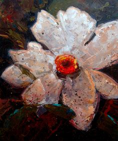 "White flower by Kanayo Ede | $250 | 20""w x 24""h 