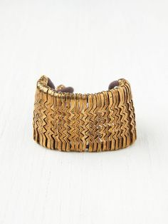 Free People Metal Zig Zag Bracelet, €0.00