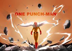 De dibujos animados de Superman ponche de Saitama (de un solo golpe hombre) del papel pintado