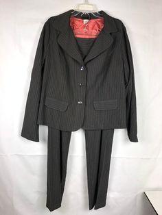 75edbee4e1e Torrid Women s Pant Suit Plus Size 2 Black Stripe 3 Buttons  Torrid   PantSuit Pantsuits