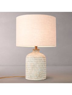 Buy John Lewis Hilbre Etched Ceramic Lamp Base with Samantha Drum Linen Lampshade, Fir Green from our Desk & Table Lamps range at John Lewis & Partners. Ceramics Pottery Mugs, Pottery Plates, Slab Pottery, Ceramic Pottery, Ceramic Lamps, Ceramics Ideas, Pottery Wheel, Pottery Vase, John Lewis Lamps