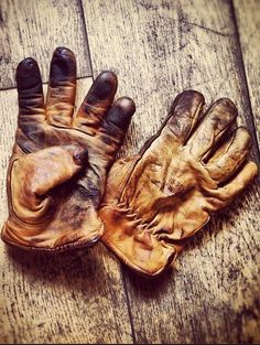 There's some beauty in a good pair of work gloves.
