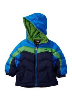 f726b98c04409 iXtreme Colorblock Expedition Puffer Jacket (Little Boys   Big Boys ...