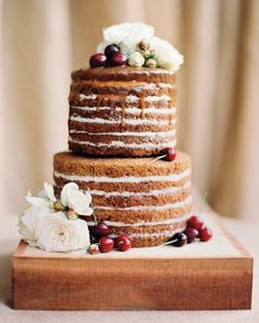 "Click to see more ""Naked Wedding Cakes"""