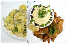 kapří hranolky koláž Camembert Cheese, Dairy, Meat, Chicken, Food, Essen, Meals, Yemek, Eten